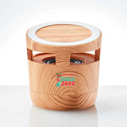 Modern Wood Bluetooth Speaker Charging Pad