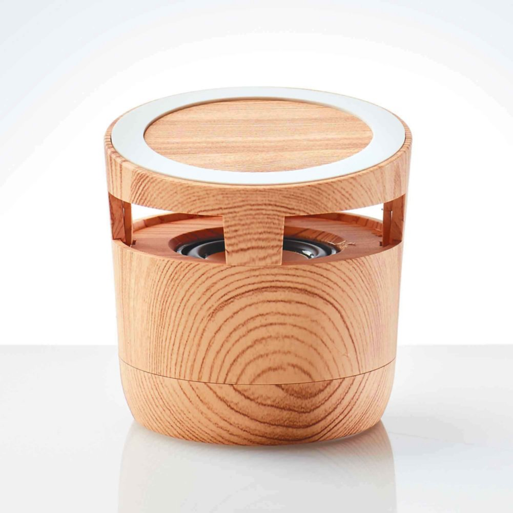 View larger image of Custom Collection: Modern Wood Wireless Bluetooth Speaker Charging Pad