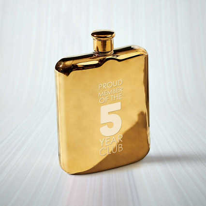 Custom Collection: Gold Flask