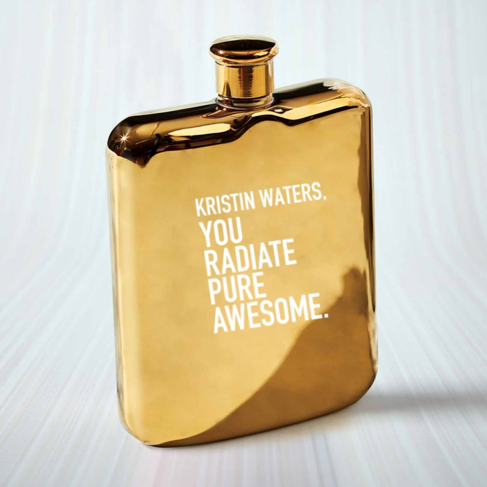 View larger image of Custom Collection: Gold Flask