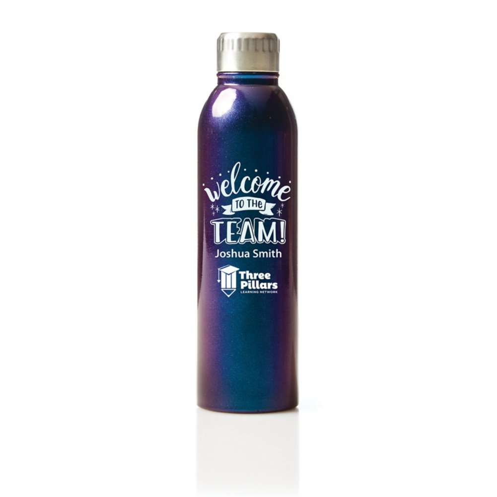 View larger image of Custom Collection: Shimmering Stainless Steel Water Bottle