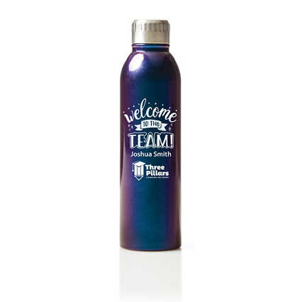 Custom Collection: Shimmering Stainless Steel Water Bottle