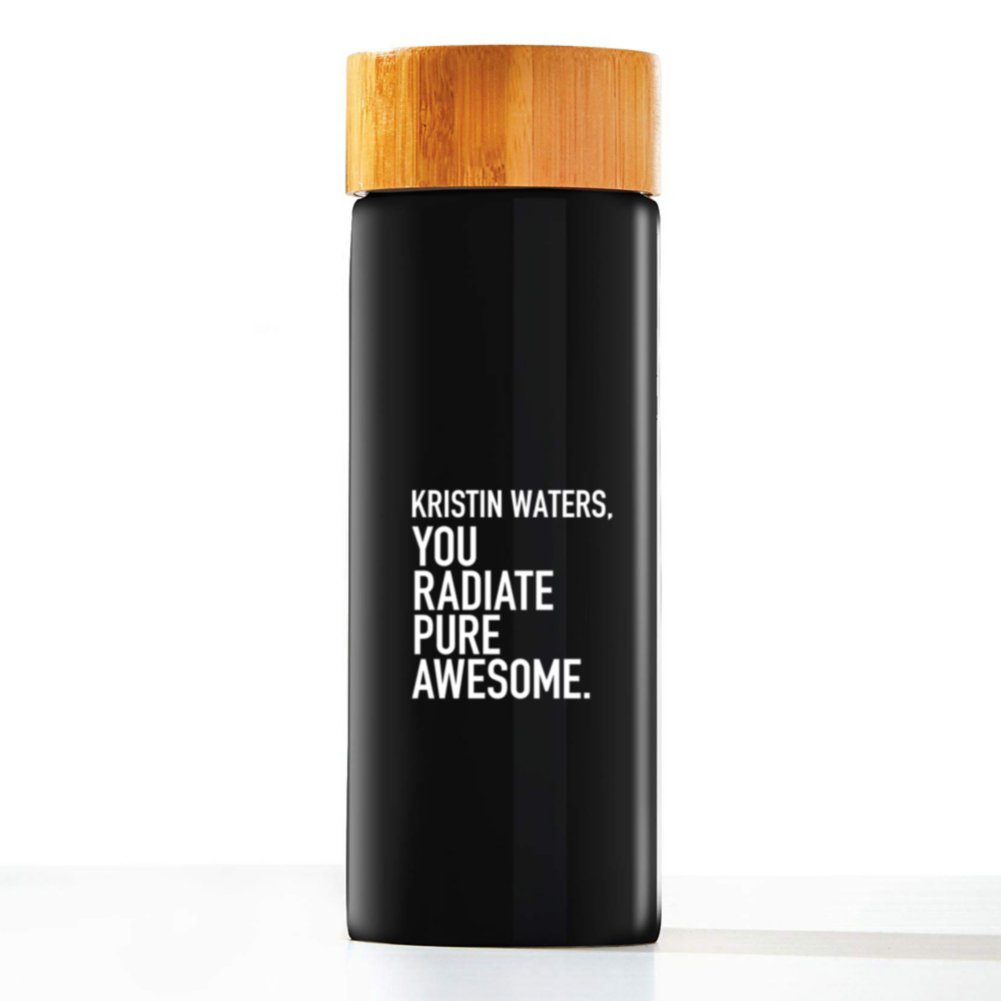 View larger image of Custom Collection: Modern Bamboo Accent Ceramic Bottle