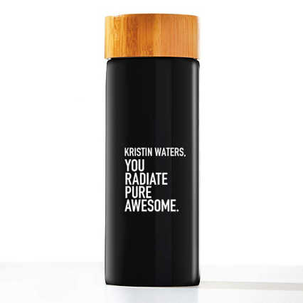 Custom Collection: Modern Bamboo Accent Ceramic Bottle