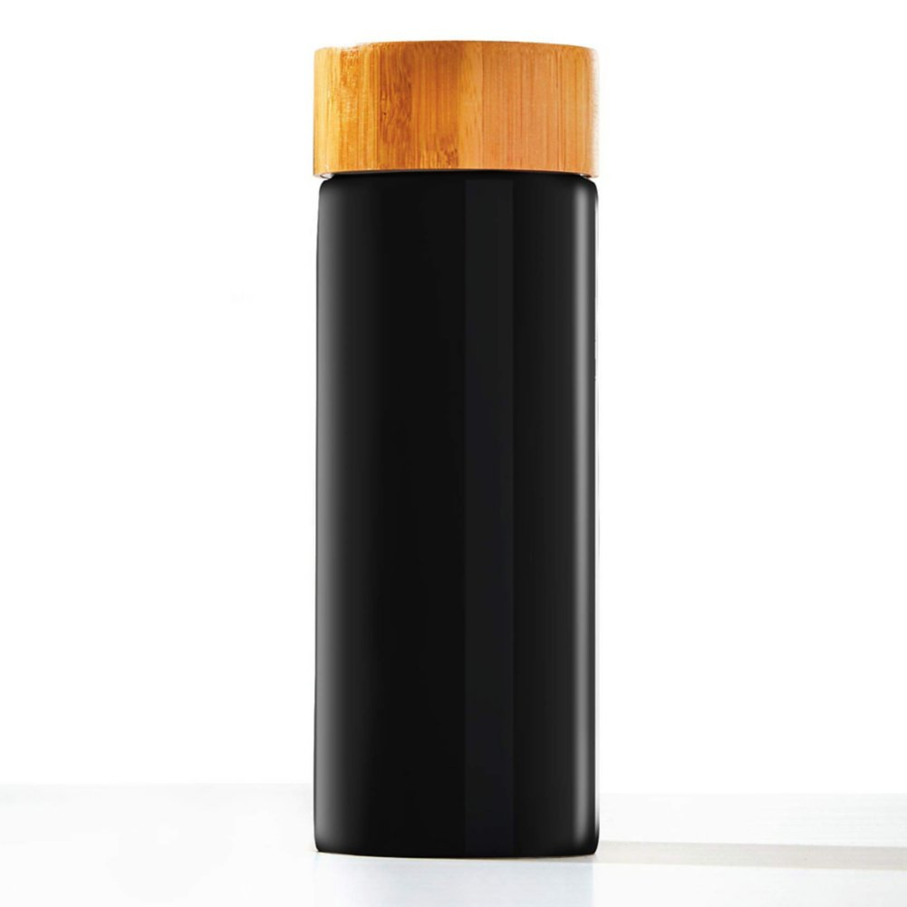 Modern Bamboo Accent Ceramic Bottle