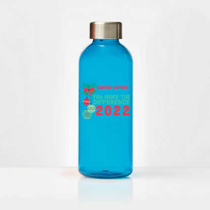 Custom Collection: Glossy Water Bottle with Stainless Steel Lid