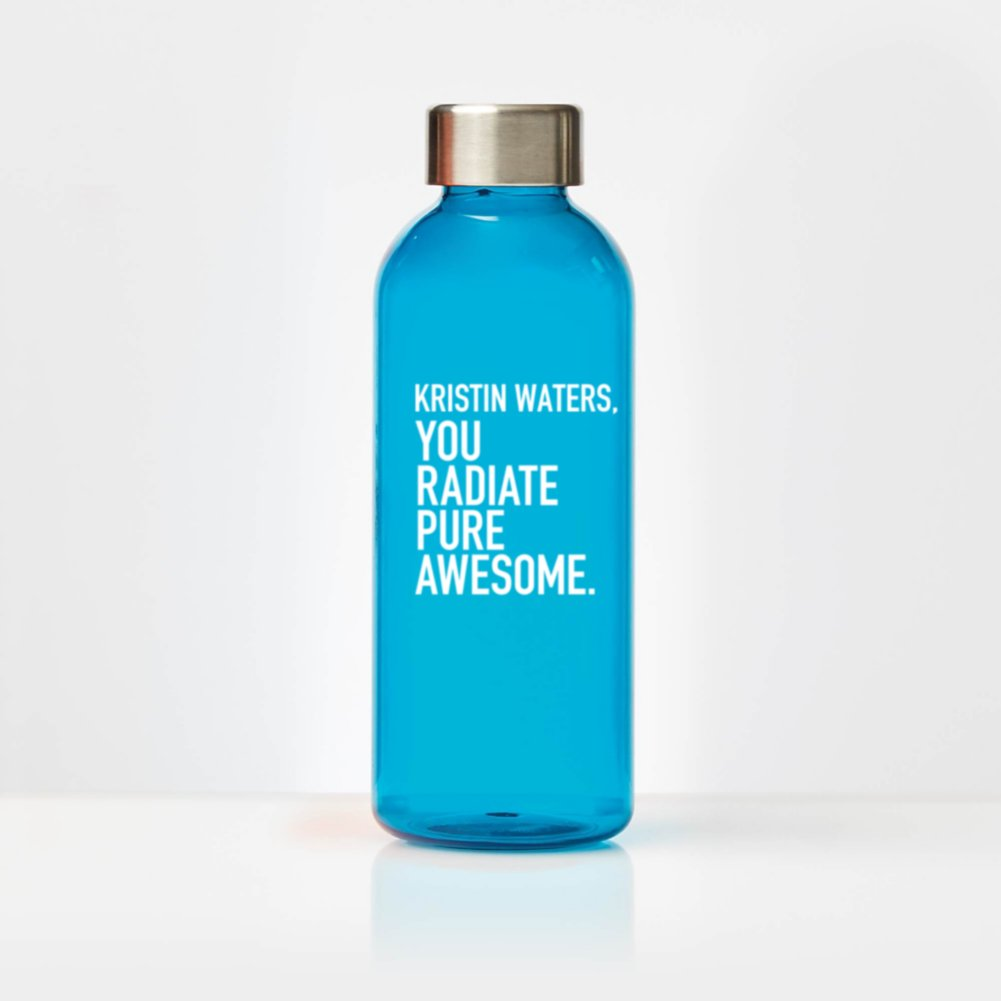 View larger image of Custom Collection: Glossy Water Bottle with Stainless Steel Lid