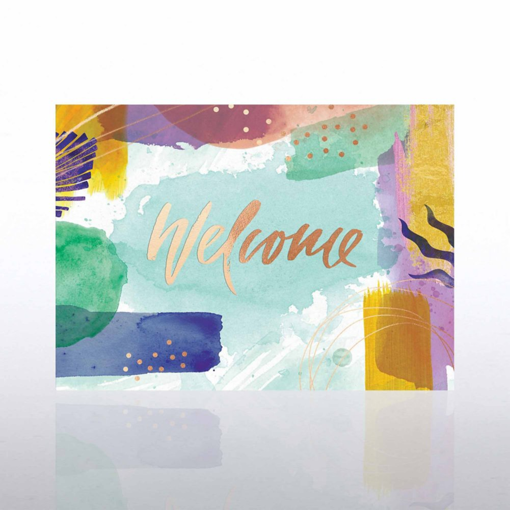 View larger image of Artful Welcome Card - Brushstrokes