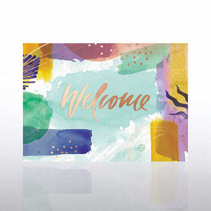 Artful Welcome Card - Brushstrokes