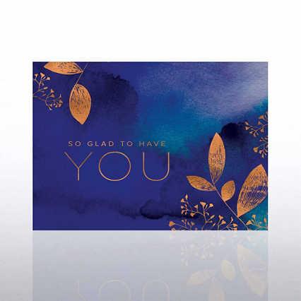 Artful Welcome Card - Glad