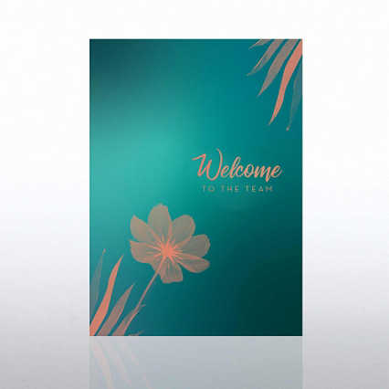 Artful Welcome Card - Flower