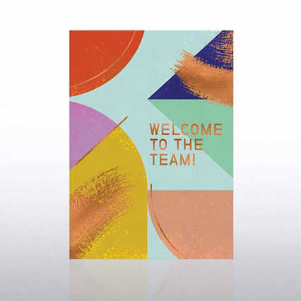 Artful Welcome Card - Geometric