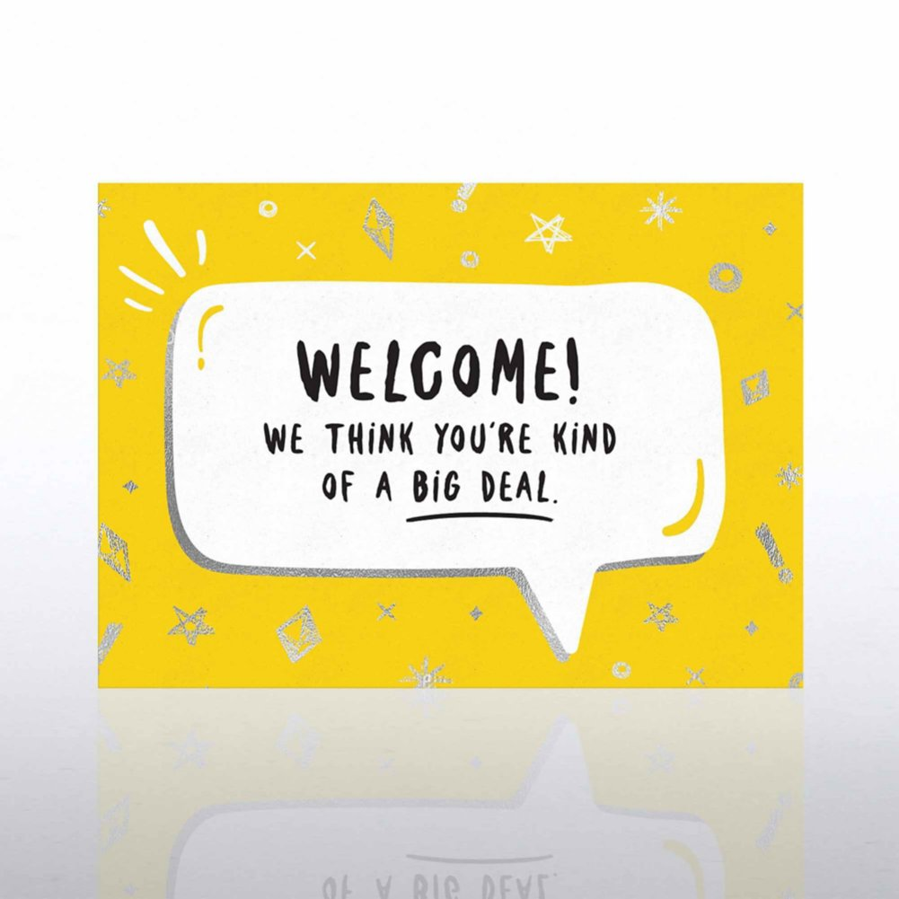 View larger image of Fun Welcome Card - Speech Bubble
