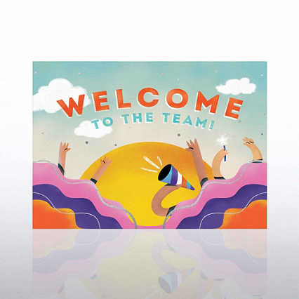 Fun Welcome Card - Horn