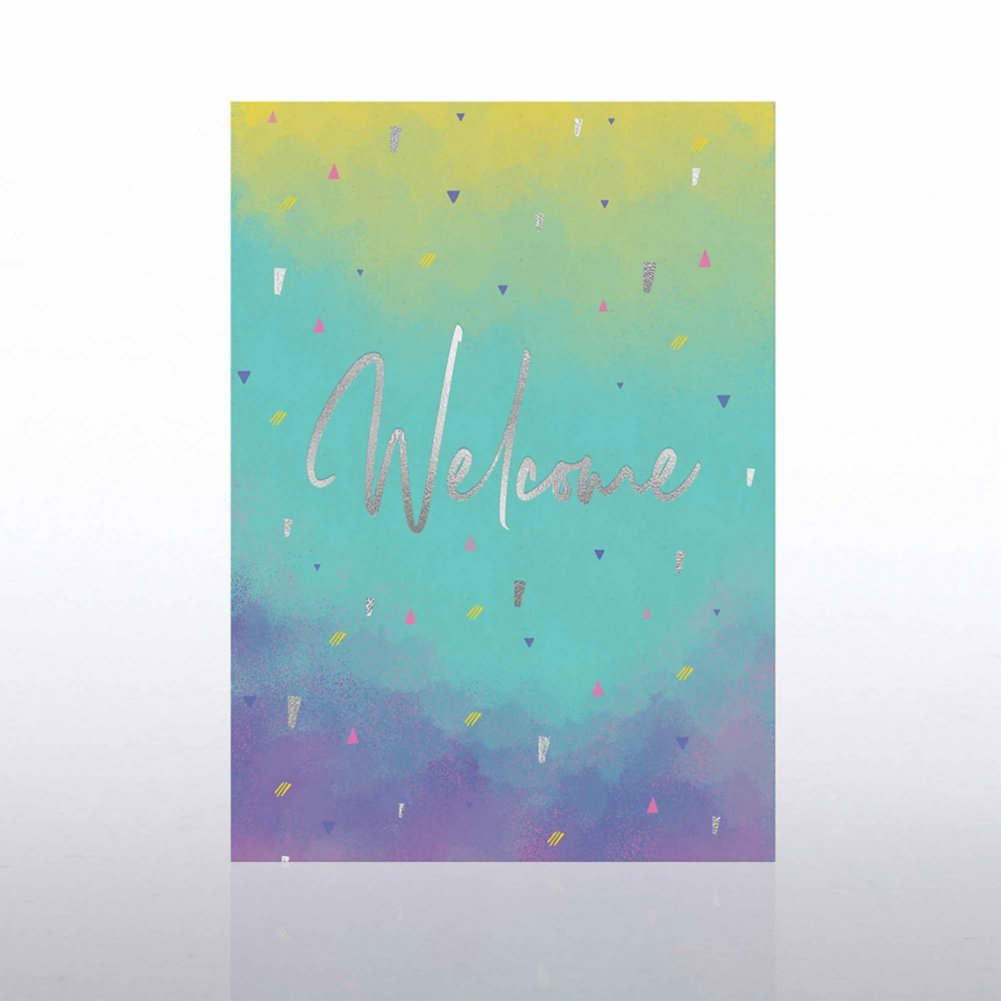 Fun Welcome Card - Confetti