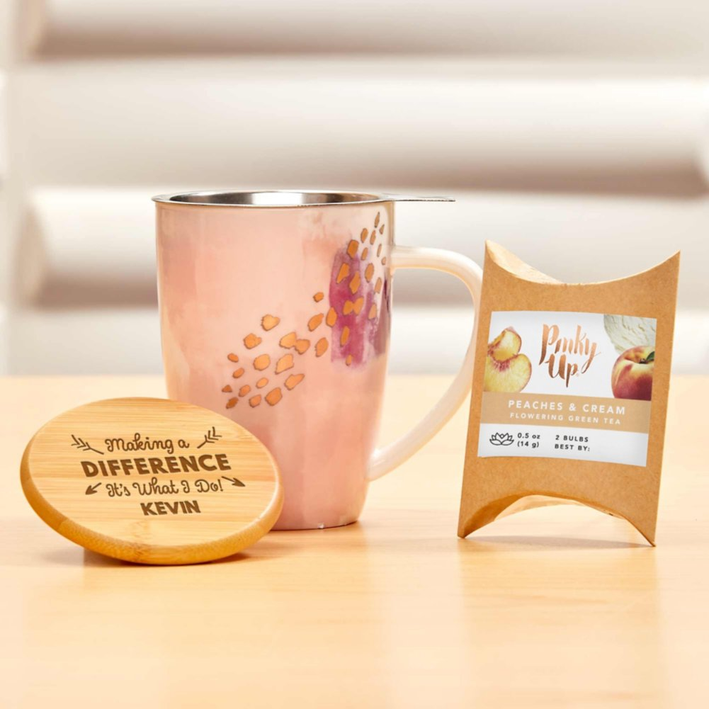 View larger image of Pinky Up Ceramic Tea Gift Sets - Pink