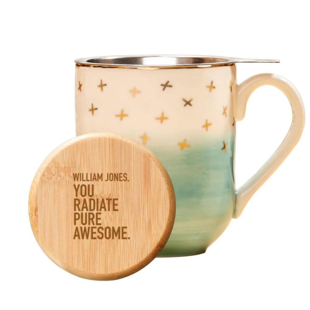 View larger image of Pinky Up Ceramic Tea Gift Sets - Teal and Gold
