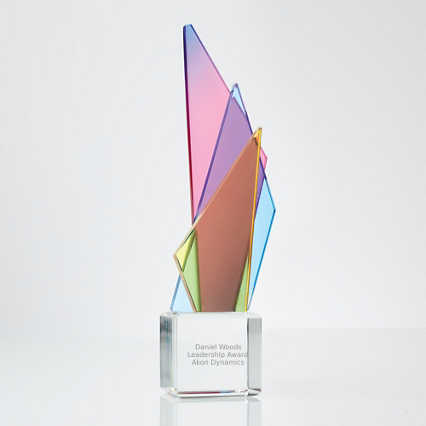 Over The Rainbow Crystal Trophy - Triangle Tower