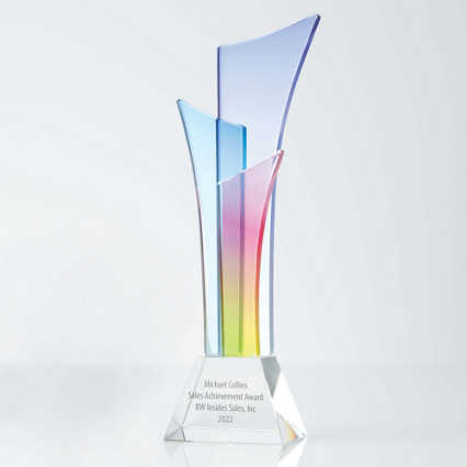 Over The Rainbow Crystal Trophy - Tower