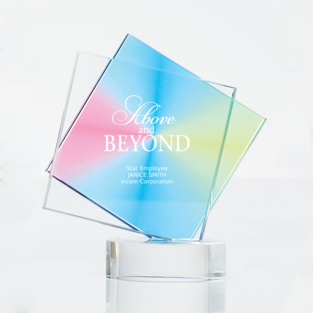 View larger image of Over The Rainbow Crystal Trophy - Diamond