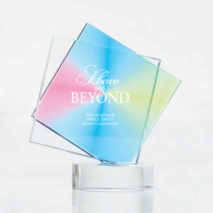 Over The Rainbow Crystal Trophy - Diamond
