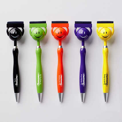 Smiley Screen Cleaning Pen Set - 5 Pack