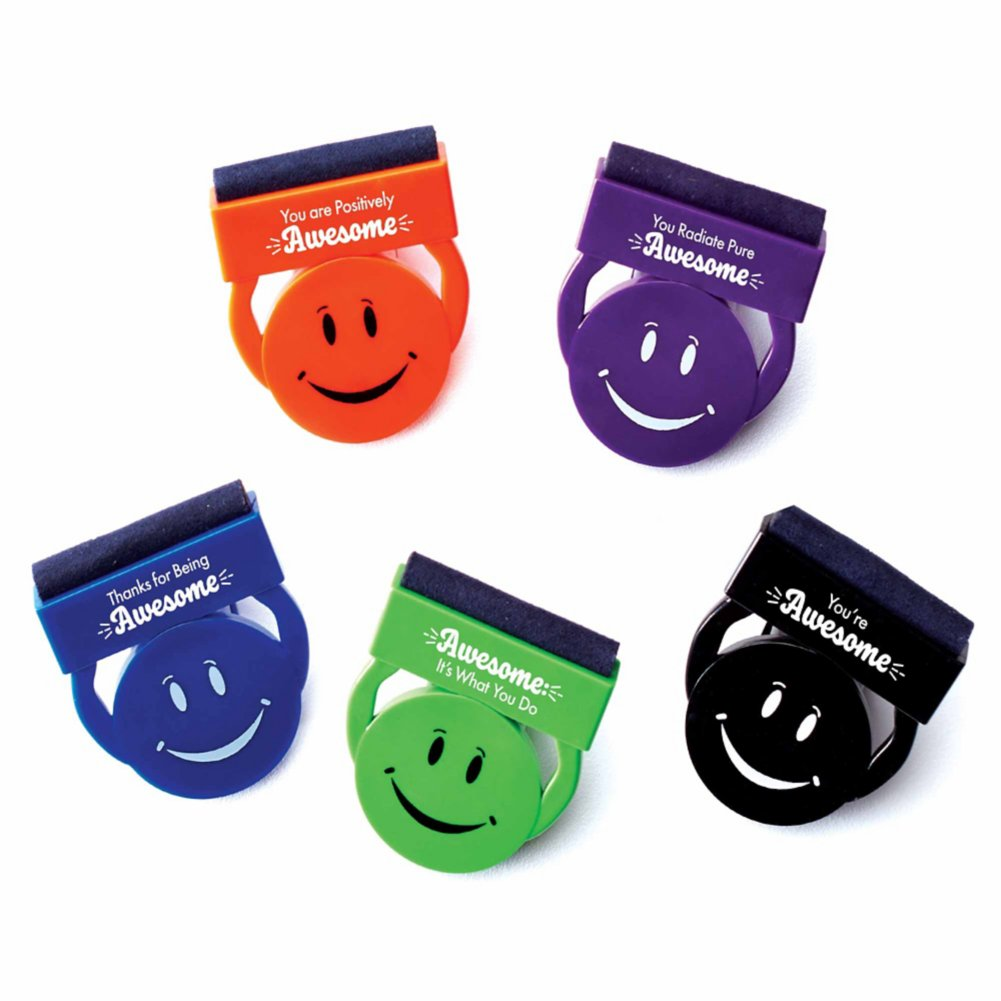 View larger image of Smiley Privacy Cover & Screen Cleaner Combo 5 Pack - Awesome