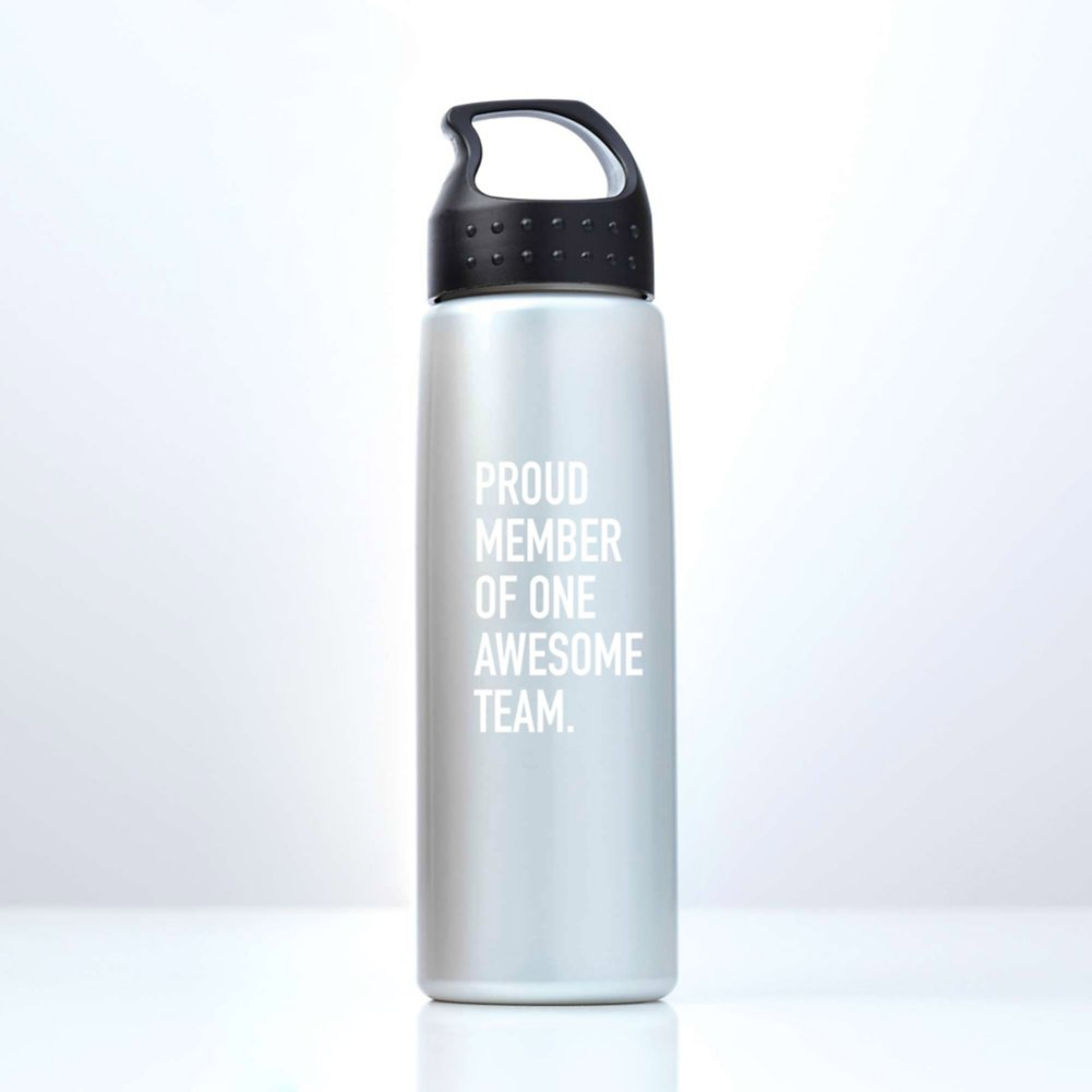 View larger image of Luminous Value Water Bottle - Proud Member - White Print