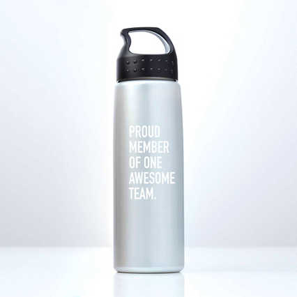 Luminous Value Water Bottle - Proud Member - White Print
