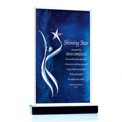 Among the Stars Acrylic Trophy
