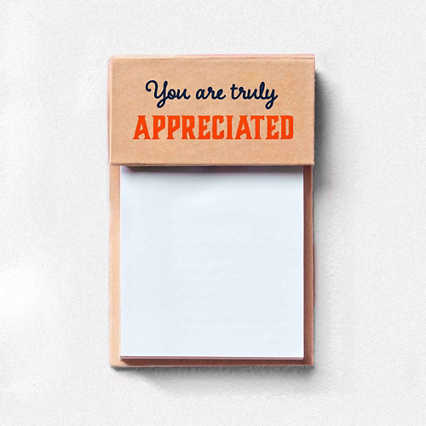 Value Sticky Notepad - You Are Truly Appreciated