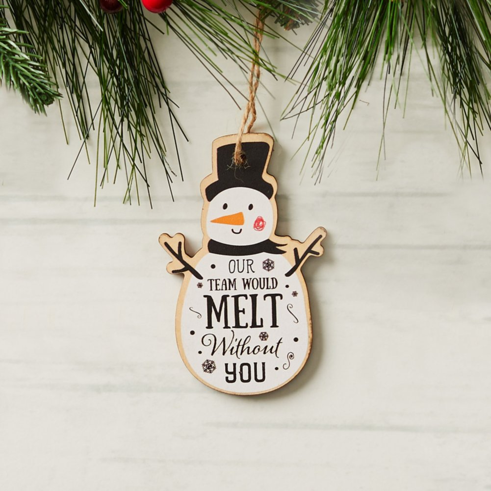 View larger image of Classic Wooden Ornament - Snowman
