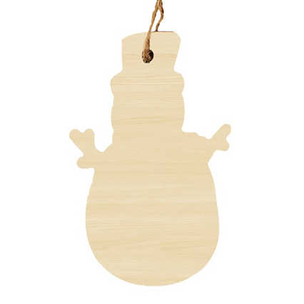 Classic Wooden Ornament - Snowman