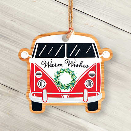 Classic Wooden Ornament - Bus