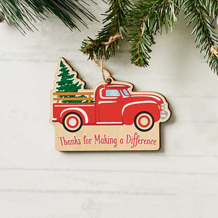 Classic Wooden Ornament - Truck