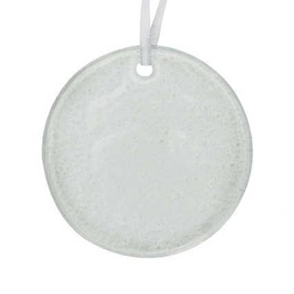 Surpr!se Custom: Elegant Hammered Glass Ornament