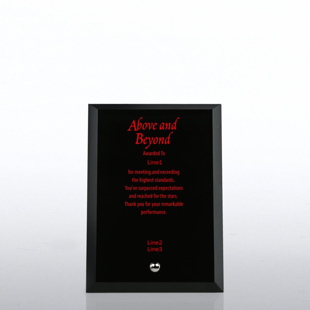 Trophy - Mini Black Beveled Edge Glass Plaque