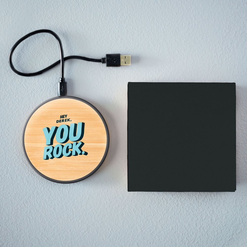 View larger image of Surpr!se Custom: Wood Look Qi Charger