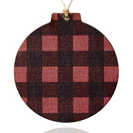 Surpr!se Custom: Holiday Wood Ornament - Buffalo Plaid