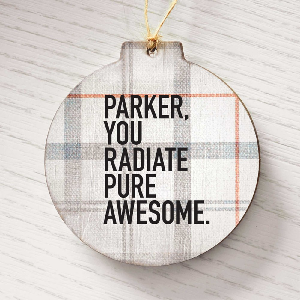 View larger image of Surpr!se Custom: Holiday Wood Ornament - Gray Plaid