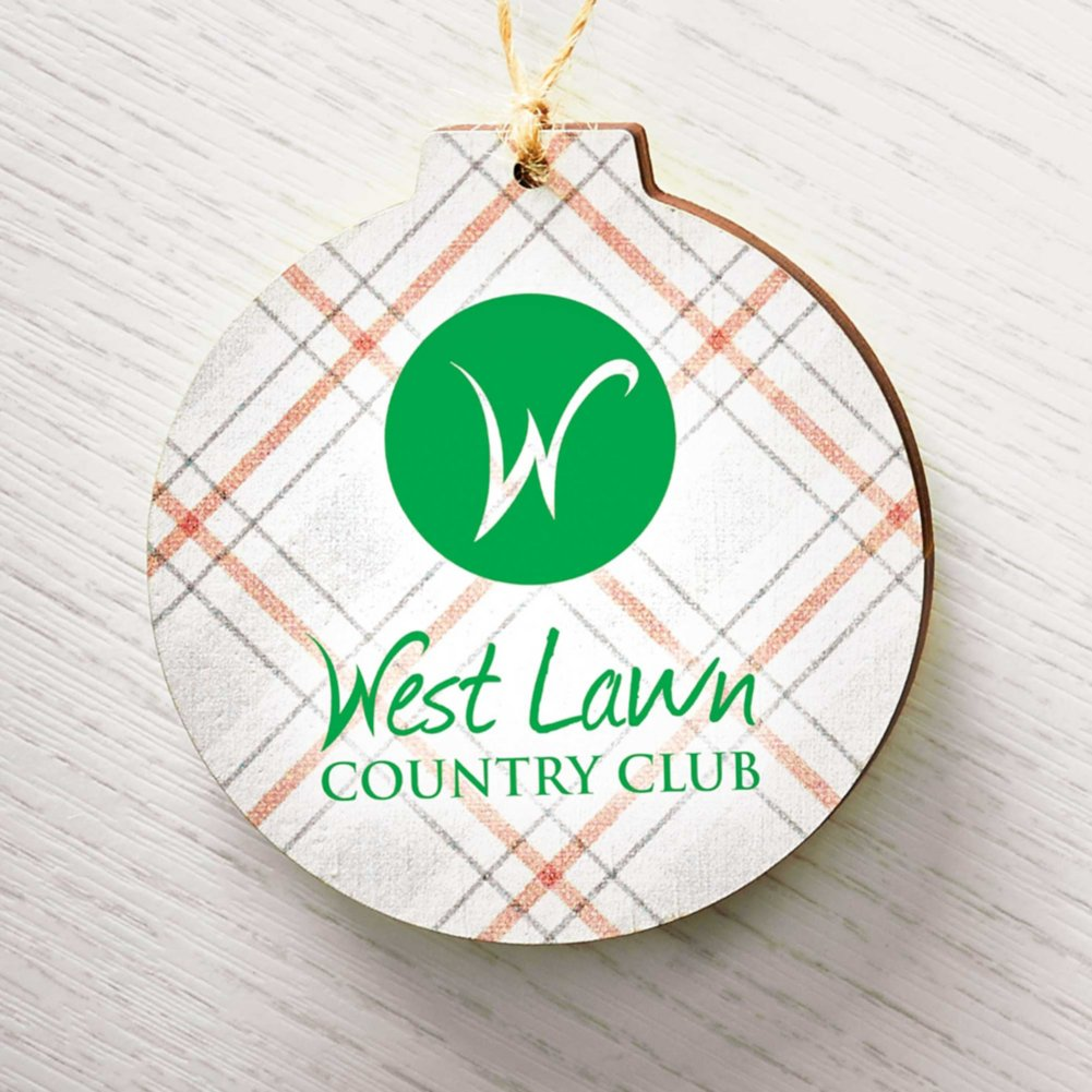 View larger image of Holiday Traditions Wooden Ornament - Red and Green Plaid