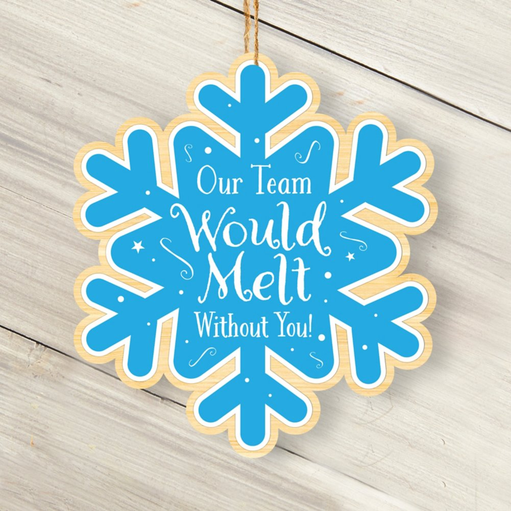 View larger image of Classic Wooden Ornament - Snowflake-Melt without You