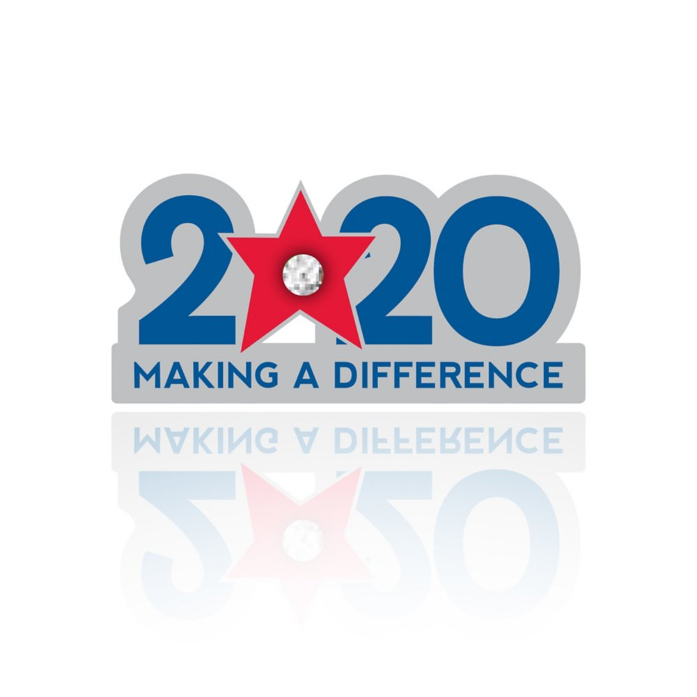 View larger image of Lapel Pin - 2020: Making a Difference with Gem
