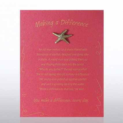 Character Pin - Starfish: Making a Difference - Red Card