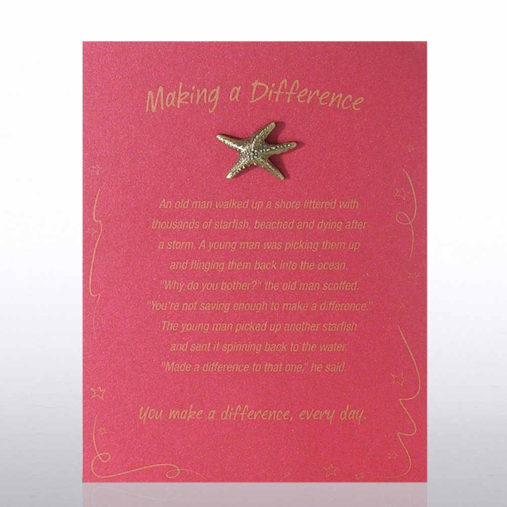 View larger image of Character Pin - Starfish: Making a Difference - Red Card