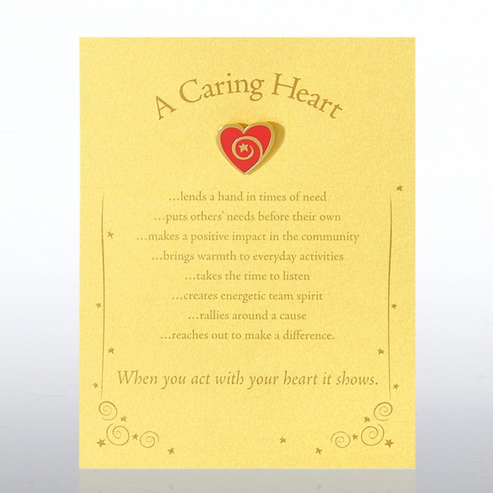 View larger image of Character Pin - Heart: A Caring Heart