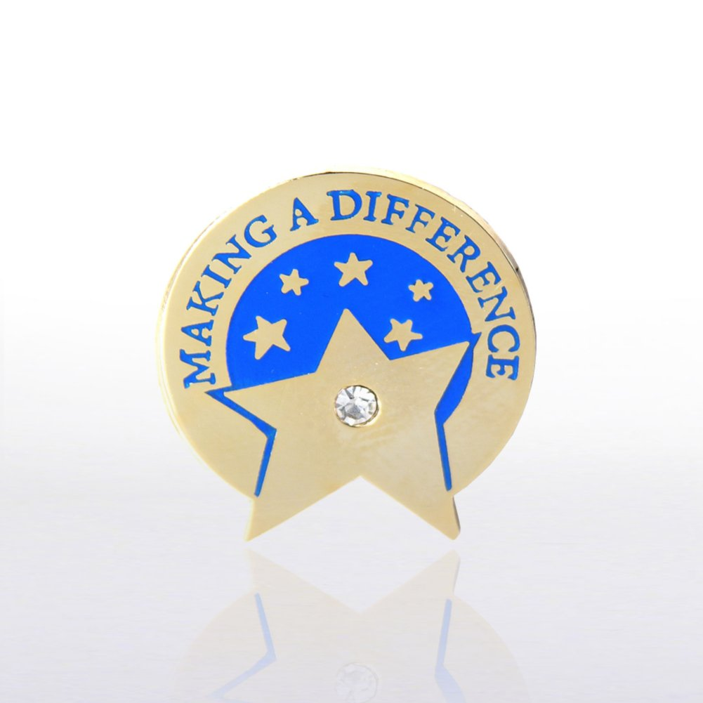 View larger image of Lapel Pin - Making a Difference Star with Gem