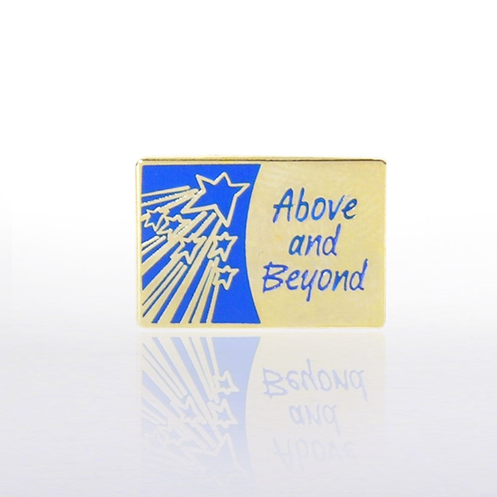 View larger image of Lapel Pin - Above and Beyond with Shooting Stars