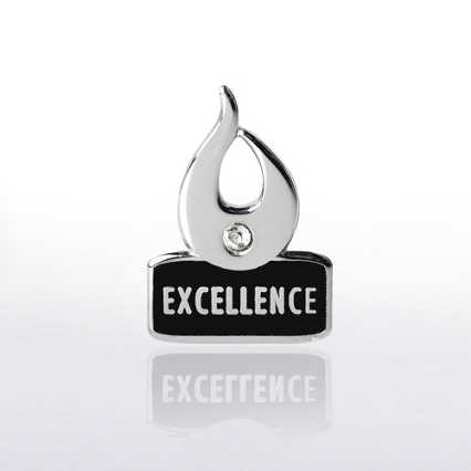 Lapel Pin - Flame Excellence w/ Gem