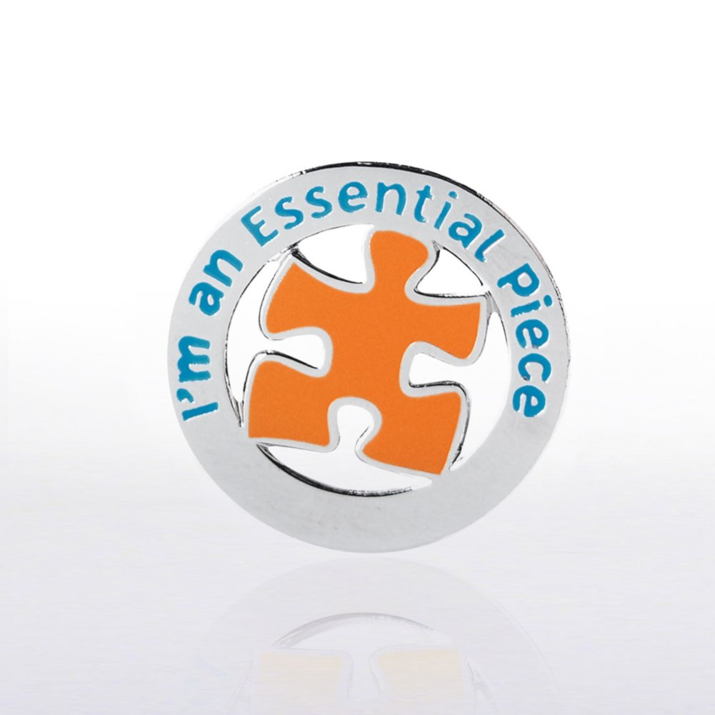 View larger image of Lapel Pin - I'm an Essential Piece - Round